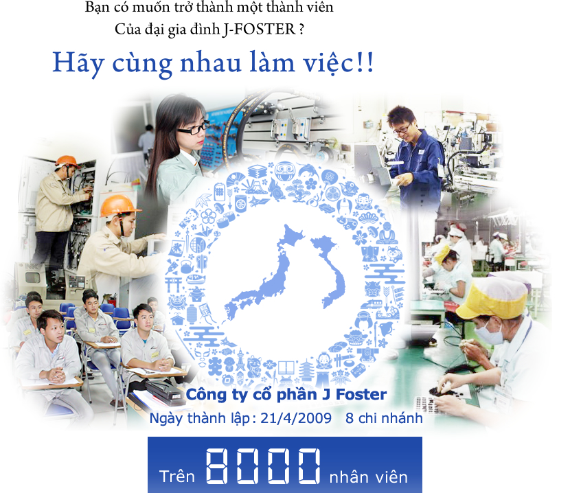 Bạn có muốn trở thành một thành viên Của đại gia đình J-FOSTER ?Hãy cùng nhau làm việc !!